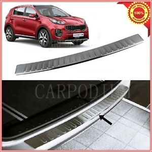 Chrome Rear Bumper Protector Scratch Guard S steel For Kia Sportage 2015 up