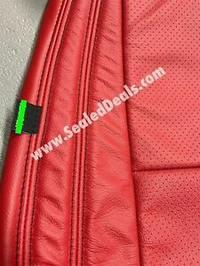 Jeep Grand Cherokee Custom Red Katzkin Leather Seat Replacement Covers 2011 2020