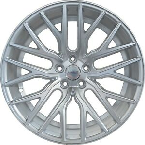 4 Gwg Wheels 20 Inch Staggered Silver Flare Rims Fits Ford Mustang 2005 2014