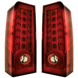 New Ruby Red Led Tail Light Set For 2006 2010 H3 Hummer Hu2800100 Hu2801100