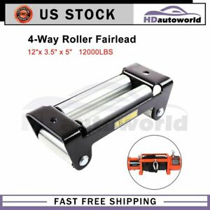 1pcs Universal Bolt Pattern Winch Roller Fairlead Heavy Duty For Steel Cable 10