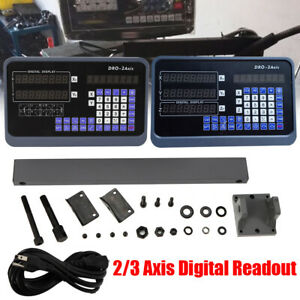 2 3 Axis Dro Kit Digital Readout Display For Milling Lathe Machine Linear Scales