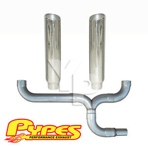 7 Slant Double Stack Stainless Pypes Exhaust Kit Dodge 2500 3500 Diesel Truck