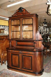 French Antique Walnut Buffet Sideboard Cabinet With Hutch