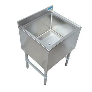 Bk Resources 30 w Stainless Steel Underbar Insulated Ice Bin W cold Plate