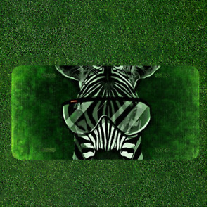 Zebra Cool Abstract Funny Glasses Custom Novelty License Plate Car Tag