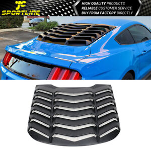 Fits 15 20 Ford Mustang Ikon Style Rear Abs Window Louvers Sun Shade Cover