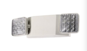 Led Emergency Exit Light Battery Backup Adjustable Two Heads Ul 924 Listed