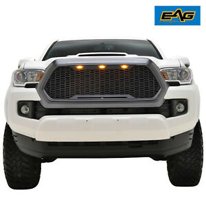 Eag Replacement Grille Raptor Led Full Grill Fit For 16 20 Toyota Tacoma