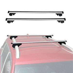 Roof Rack Rail Cross Bar Cargo Carrier With Anti Theft Lockable
