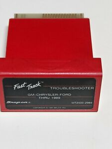 Snap On Mt2500 2989 Troubleshooter Gm Chry Frd Thru 1989 Scanner Cartridge