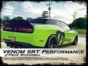 2 Piece Dodge Challenger Widebody Srt Performance Wicker Bill Wickerbill Spoiler