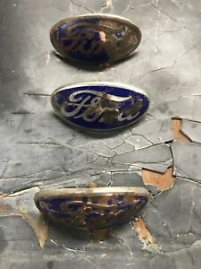 1934 Ford Grill Badge Hot Rod Rat Scta Flathead Lot Of 3