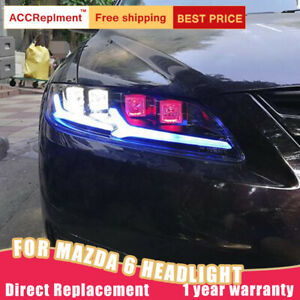 For Mazda 6 Atenza Headlights Assembly All Led Lens Projector Led Drl 2003 2008
