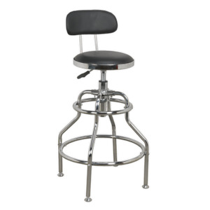 Sealey Workshop Stool Pneumatic With Adjustable Height Swivel Seat