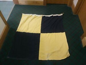 Vintage Linen L International Code Signal Flag Has Been Repaired Does Show Wear