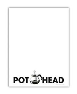 Pot Head Memo Notepad Funny Office Supplies Coworker Gift 4 25 X 5 5 Inch