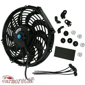 Universal 12 Inch Slim Fan Push Pull 12v Electric Radiator Cooling Mount Kit