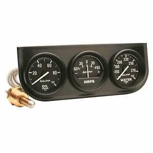 Auto Meter 2393 Gauge Mount Pod In Console 2 Oil Amp water Mechcanical Bl