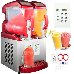 Slushy Machine Daiquiri Machine Commercial 2 X 6l Home Slush Machine Two Tanks