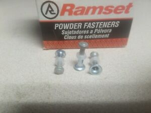 Ramset Red Head Powder Fastening Pins 3 4 Tophat Pin 1906 New Box Of 100