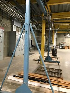 Adjustable Gantry Crane 2 Ton Capacity Adjustable Height 10 Ft W 15 Foot Span