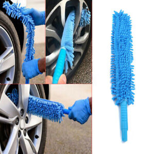 1pcs Microfiber Cleaning Brush Car Suv Tyre Wheel Wash Cleaner Tool Accessories