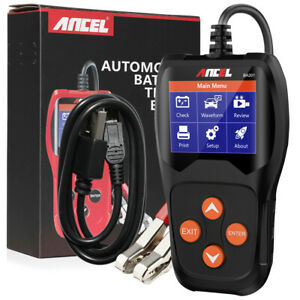 12v Car Battery Tester 100 2000cca Digital Battery Analyzer Tool Ancel Ba201