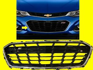 Bumper Grille For Chevrolet Cruze 2016 2018 With Rs Sedan 84009674 Gm1036184