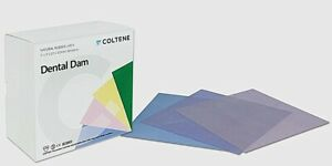 Coltene H07317 Hygenic Fiesta Rubber Dental Dams 6 X 6 Medium Assorted 364 pk