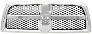New Chrome Grille For 2009 2012 Dodge Ram 1500 Ch1200347 Ships Today