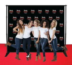 Step Repeat Fabric Banner Stand Telescopic Backdrop Tradeshow Expo Display