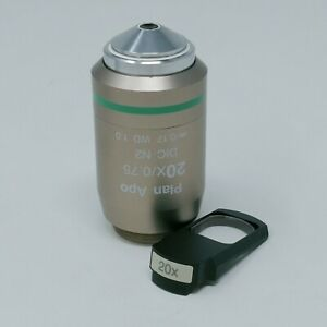 Nikon Microscope Objective Plan Apo 20x 0 75 Dic With Dic Prism Slider 20x