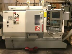 Haas Sl 20t Cnc Lathe Turning Center W Barfeeder