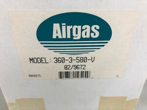 Airgas Stainless Steel Gas Regulator Model 360 3 580 v
