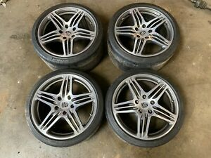 Porsche 911 997 Turbo Oem Factory Wheel Rim Set 99736215605 99736216202