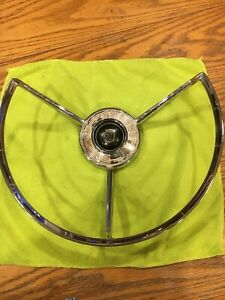 1958 58 Ford Steering Wheel Horn Ring Feg3624bw Original Factory Oem