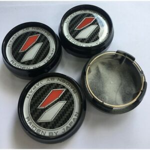 New 4x Cup 62 Mm Wheel Center Caps Cover Hub Black For Lenso Raiden Racing