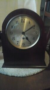 Antique Macaine Germany Mantel Key Wind Clock Mini Bar Rare See Picture S
