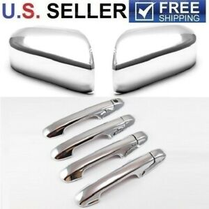 For 2003 2007 Honda Accord 4dr Sedan Chrome Handle Covers Mirror Cover