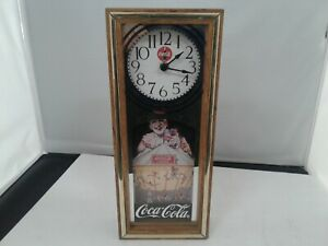 Quartz operated coca cola clock