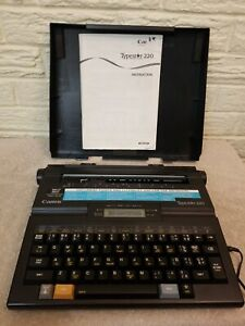 Vintage 1990 s Canon Typestar 220 Typewriter Wordprocessor Manual Ac Adapter