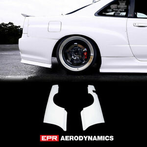 For R34 Skyline Gtt Gtr Style Frp Fiber Unpainted Rear Wider Fender Exterior Kit