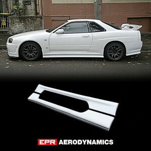For Nissan Skyline R34 Gtt Esb Style Frp Fiber Side Skirt Exterior Body Kit