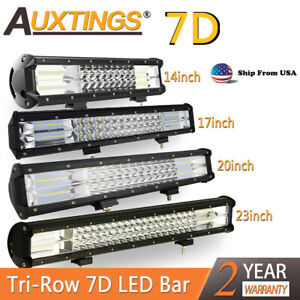 14 17 20 22 Tri Row 288w 324w Combo Led Work Light Bar Suv Truck Boat Us