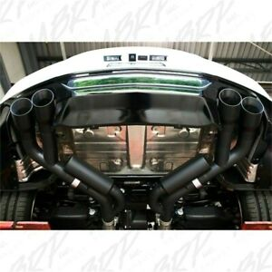 Mbrp 2 5 Dual Axle Back Exhaust 4 Quad Tips Black 2018 2020 Ford Mustang Gt