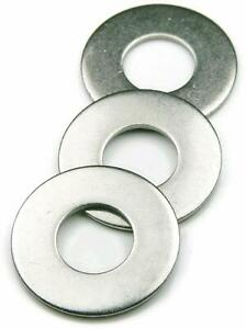 Flat Washers Stainless Steel 18 8 Sae Select Size Quantity On Drop Down