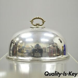 Antique Sheffield Silver Plate English 14 Meat Dish Serving Dome Lid
