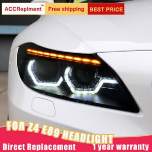 For Bmw Z4 E89 Headlights Assembly Bi Xenon Lens Projector Led Drl 2009 2016