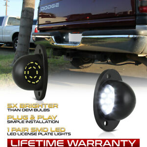1994 2001 Dodge Ram 1500 2500 3500 Full Led License Plate Light Lens Lamp Pair